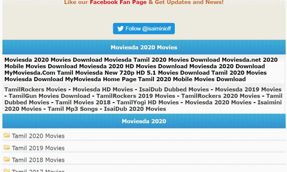 Isaimini Website 2020 Tamil Dubbed Movies Download Or Watch Online
