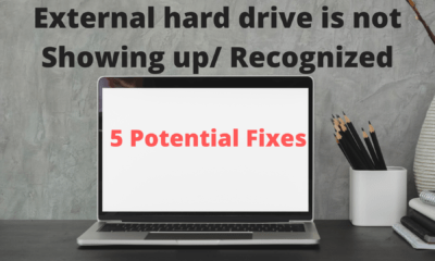 External hard drive is not Showing up_ Recognized_ 5 Potential Fixes