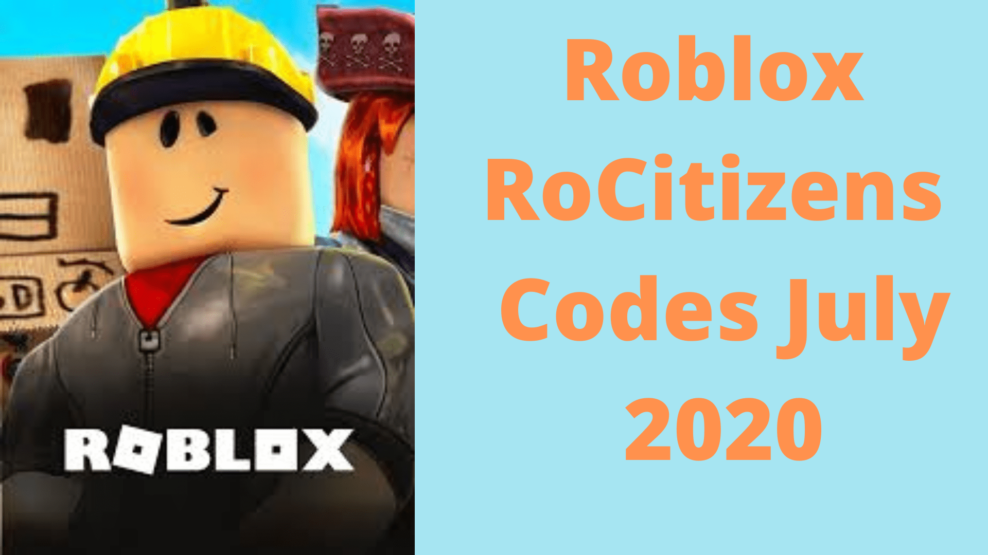 Roblox RoCitizens Codes July 2020