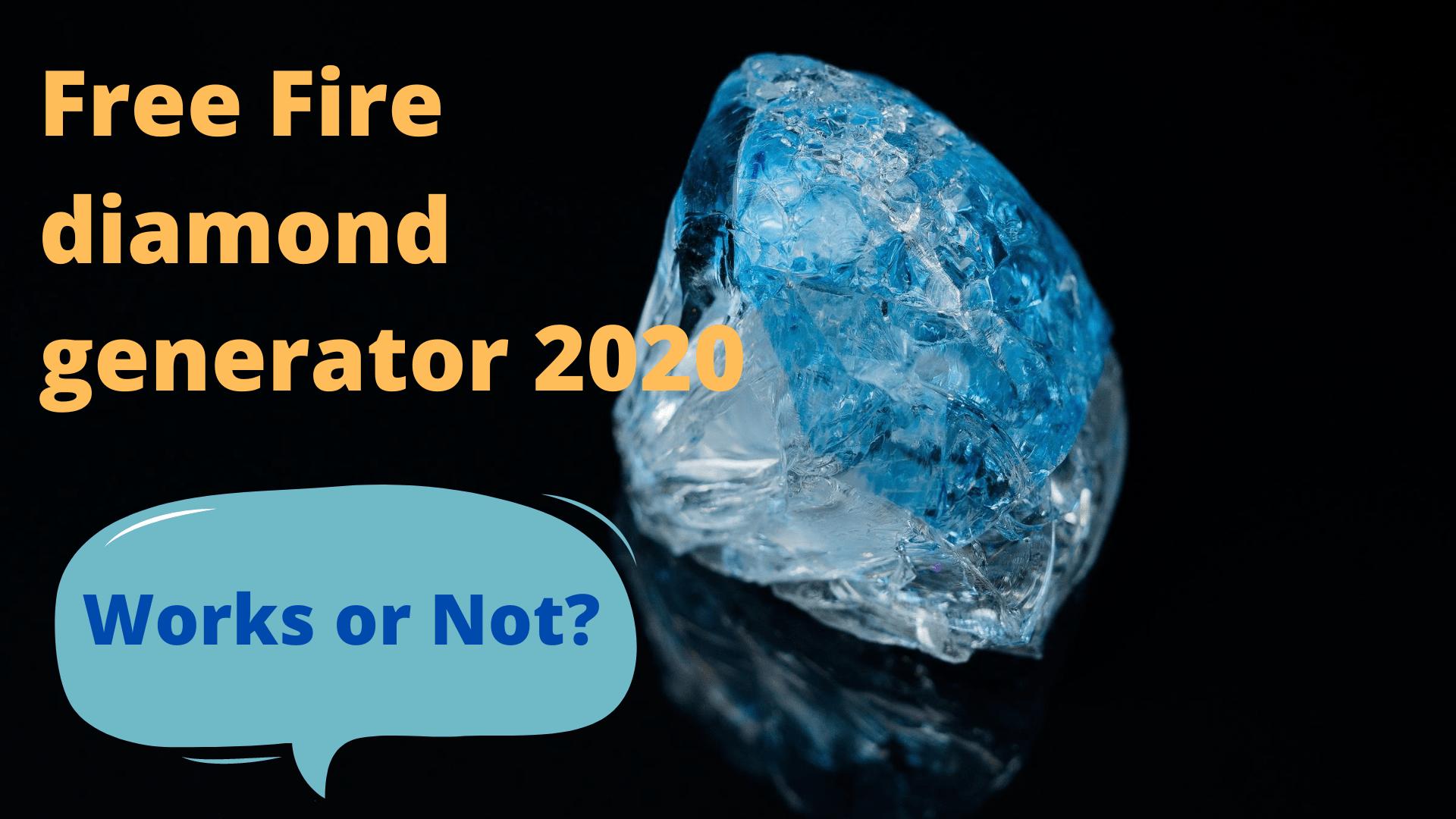 Free Fire diamond generator 2020