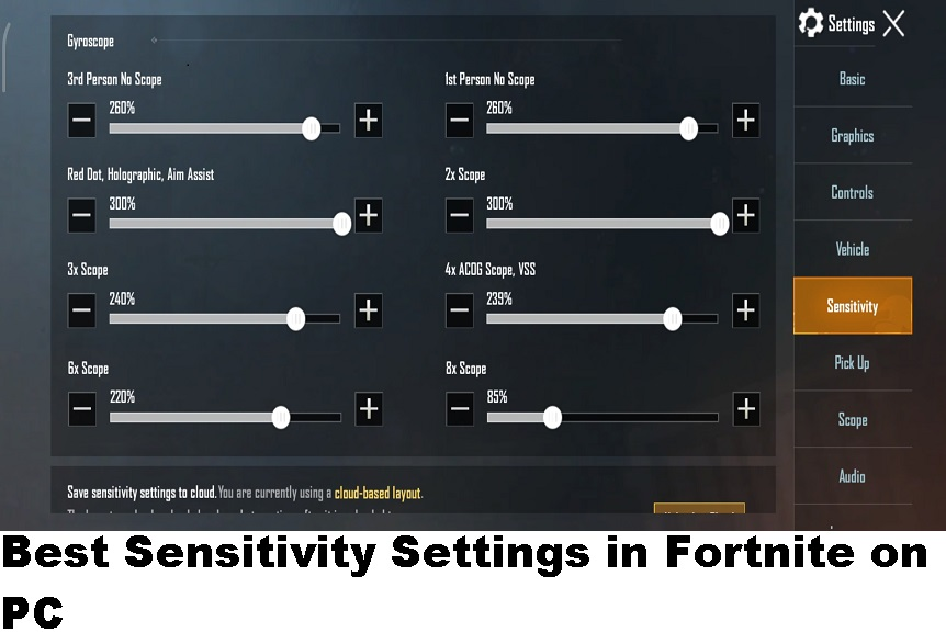 Best Sensitivity Settings in Fortnite on PC