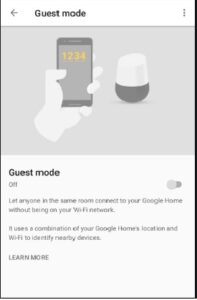 guest mode feature