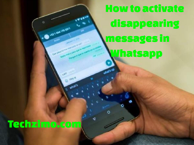 Activate disappearing messages in Whatsapp