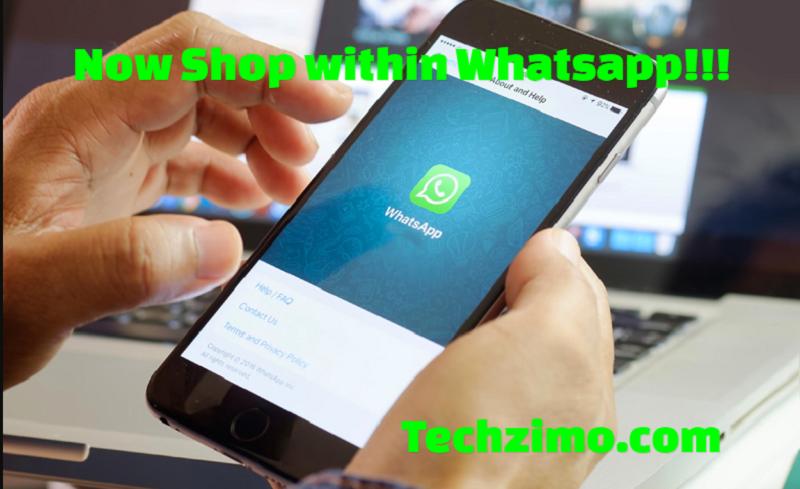 Whatsapp added shopping button