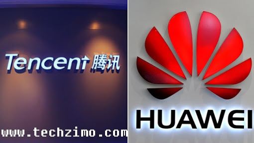 Huawei removes Tencent