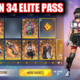 Free Fire Elite Pass Season 34 rewards, pre order