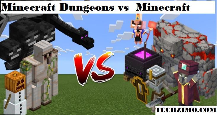 Minecraft Dungeons vs Minecraft