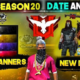 Garena Free Fire Ranked Season 20 start date