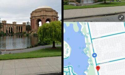 Split screen on Google Maps