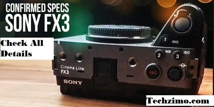 Sony FX3 Cinema Line Camera