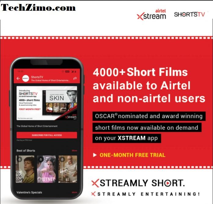 ShortsTV Content On Airtel Xstream Application