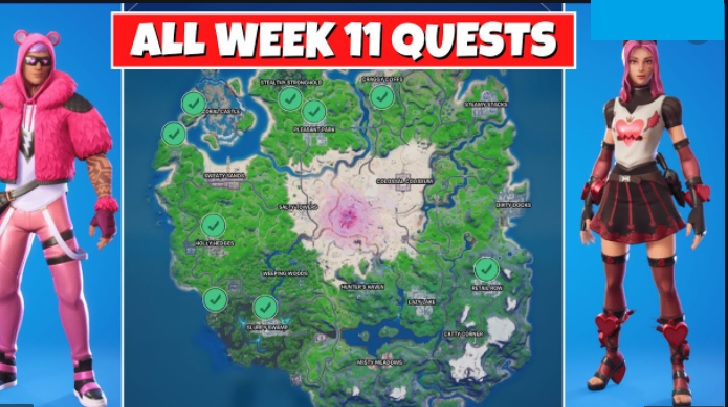 Fortnite Season 5 Week 11 Challenges