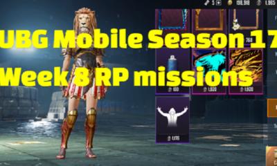 PUBG Mobile Season 17 Week 8 RP missions revealed