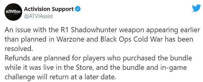 Call Of Duty Drops R1 Weapon