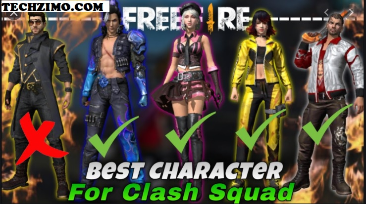 free fire clash squad characters