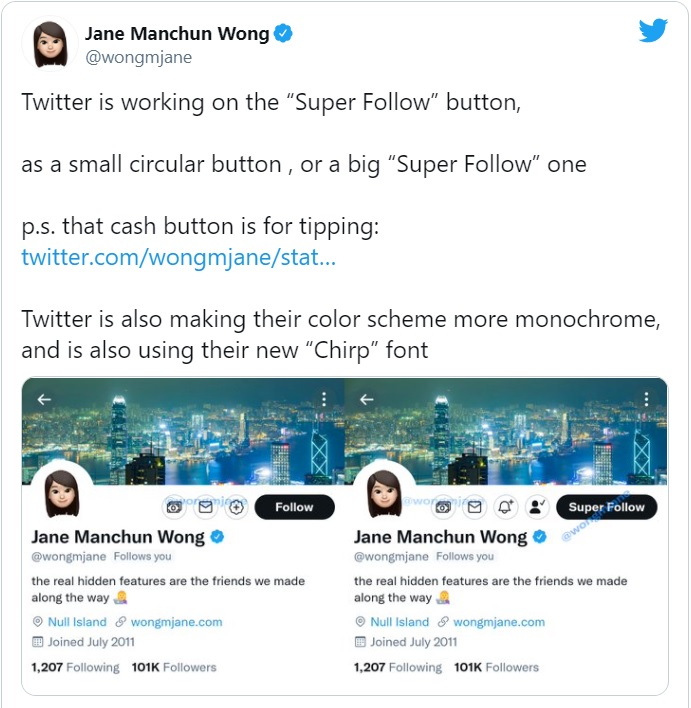 Twitter upcoming feature
